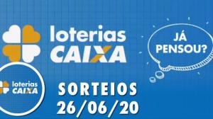 Loterias Caixa: Lotofácil e Lotomania 26/06/2020