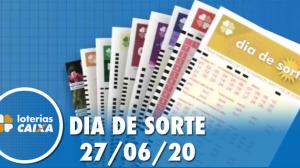 Resultado do Dia de Sorte concurso nº 322 - 27/06/2020