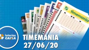 Resultado da Timemania concurso nº 1503 - 27/06/2020