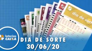 Resultado do Dia de Sorte concurso nº 323 - 30/06/2020