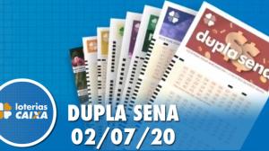 Resultado da Dupla Sena concurso nº 2099 - 02/07/2020