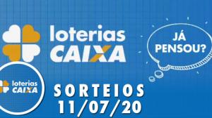 Loterias Caixa: Mega-Sena, Quina, Dia de Sorte e mais 11/07/2020