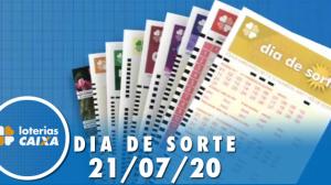 Resultado do Dia de Sorte - Concurso nº 332 - 21/07/2020