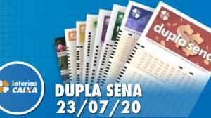 Resultado da Dupla Sena - Concurso nº 2108 - Resultado da Dupla S23/07/2020