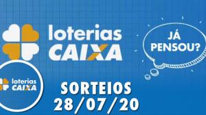 Loterias Caixa: Quina, Lotomania, Dia de Sorte e mais 28/07/2020