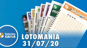 Resultado Lotomania - Concurso nº 2096 - 31/07/2020