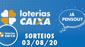 Loterias Caixa: Quina e Lotofácil 03/08/2020