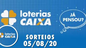 Loterias Caixa: Mega-Sena, Lotofácil e Quina 05/08/2020