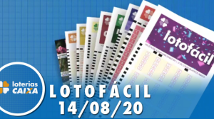 Resultado da Lotofácil - Concurso nº 2011 - 14/08/2020