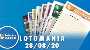 Resultado da Lotomania - Concurso nº 2104 - 28/08/2020