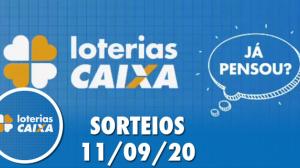 Loterias Caixa: Quina e Lotomania 11/09/2020