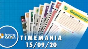 Resultado da Timemania - Concurso nº 1537 - 15/09/2020