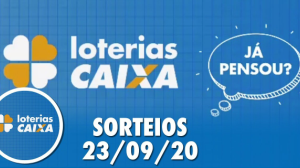 Loterias Caixa: Mega-Sena, Quina e Lotofácil 23/09/2020