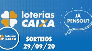 Loterias Caixa: Quina, Lotomania, Lotofácil e mais 29/09/2020