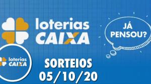 Loterias Caixa: Lotofácil e Quina 05/10/2020