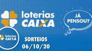 Loterias Caixa: Quina, Lotofácil, Dupla Sena e mais 06/10/2020