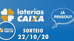 Loterias Caixa: Mega-Sena, Quina, Timemania e mais 22/10/2020