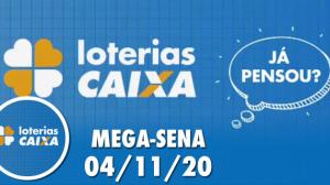 Resultado da Mega-Sena - Concurso nº 2315 - 04/11/2020