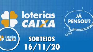 Loterias Caixa: Lotofácil e Quina 16/11/2020
