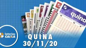 Resultado da Quina - Concurso nº 5429 - 30/11/2020
