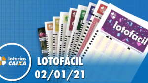 Resultado da Lotofácil - Concurso nº 2122 - 02/01/2021