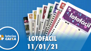 Resultado da Lotofácil - Concurso nº 2129 - 11/01/2021