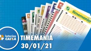 Resultado da Timemania - Concurso nº 1595 - 30/01/2021