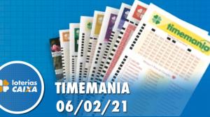 Resultado da Timemania - Concurso nº 1598 - 06/02/2021