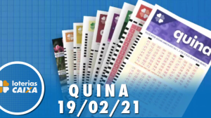 Resultado da Quina - Concurso nº 5495 - 19/02/2021