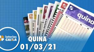 Resultado da Quina - Concurso nº 5501 - 01/03/2021