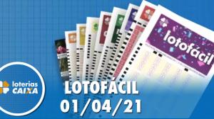 Resultado da Lotofácil - Concurso nº 2196 - 01/04/2021