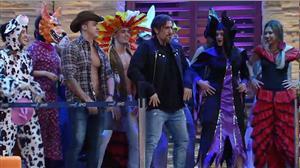 Marcos Mion e Luciana Gimenez se divertem em festa no estilo 'A Casa'