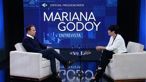 Mariana Godoy recebe o prefeito de São Paulo João Doria (PSDB)