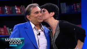 Mariana recebe o ator e humorista Dedé Santana