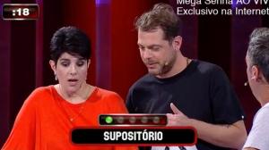 """Mariana Godoy e Tatola se complicam com a palavra """"supositório"""""""