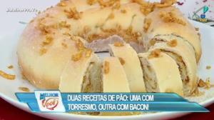 Edu Guedes ensina receita de pão com torresmo e bacon
