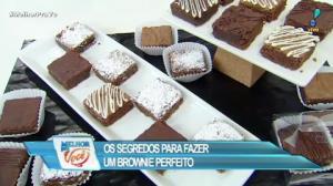 Culinária do Edu ensina receita de brownie perfeito