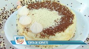 Edu Guedes ensina receita de torta de sorvete