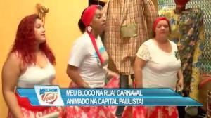 """Grupo """"Sucatas Ambulantes"""" anima bloco na zona leste de São Paulo"""
