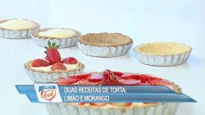Edu Guedes ensina receitas de torta de limão e morango