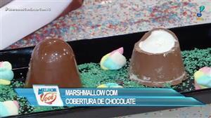 Edu Guedes ensina receita de marshmallow com cobertura de chocolate