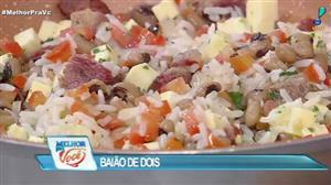 Edu Guedes ensina receita de baião de dois