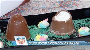 Edu Guedes ensina receita caseira de marshmallow