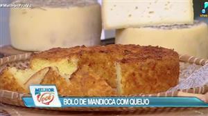 Culinária do Edu ensina a fazer bolo de mandioca com queijo