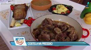 Edu Guedes ensina receita de costela na pressão
