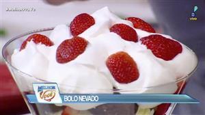 Edu Guedes ensina receita de bolo nevado