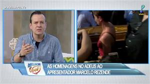 Famosos prestam homenagem a Marcelo Rezende