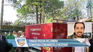 Thiago Rocha presta homenagem a Marcelo Rezende