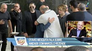 Otávio Mesquita homenageia amigo Marcelo Rezende