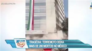 Terremoto mata mais de 200 pessoas no México